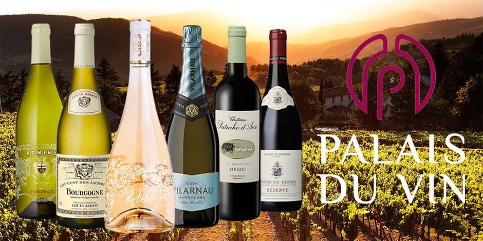 Concours : Remportez 15 caisses de 6 bouteilles sélectionnées avec Palais du Vin et bénéficiez en plus de 15€ de réduction sur votre commande