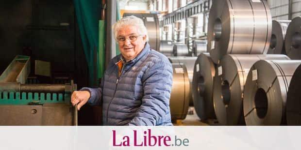 FLEMALLE. PORTRAIT DE MARIO FRANCHI, LE PATRON DE L ENTREPRISE FRISAYE. Photo Michel Tonneau