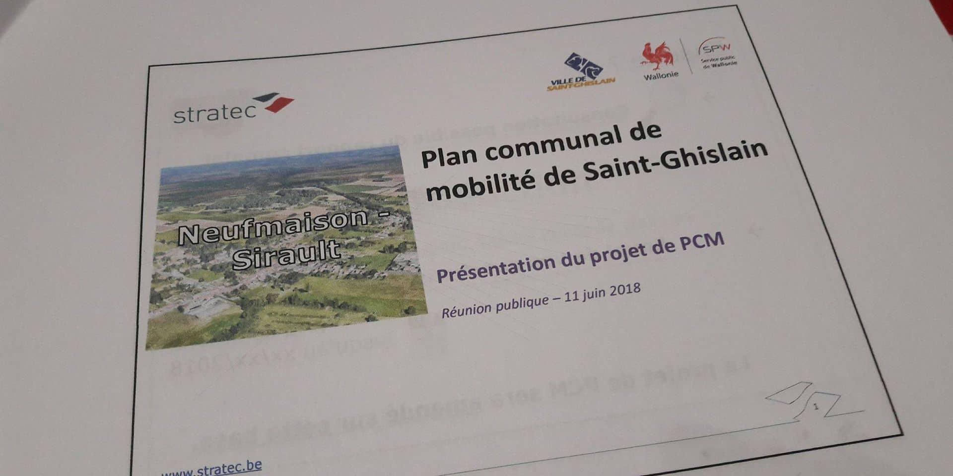 Saint-Ghislain: une trentaine de personnes ont discuté du plan communal de mobilité