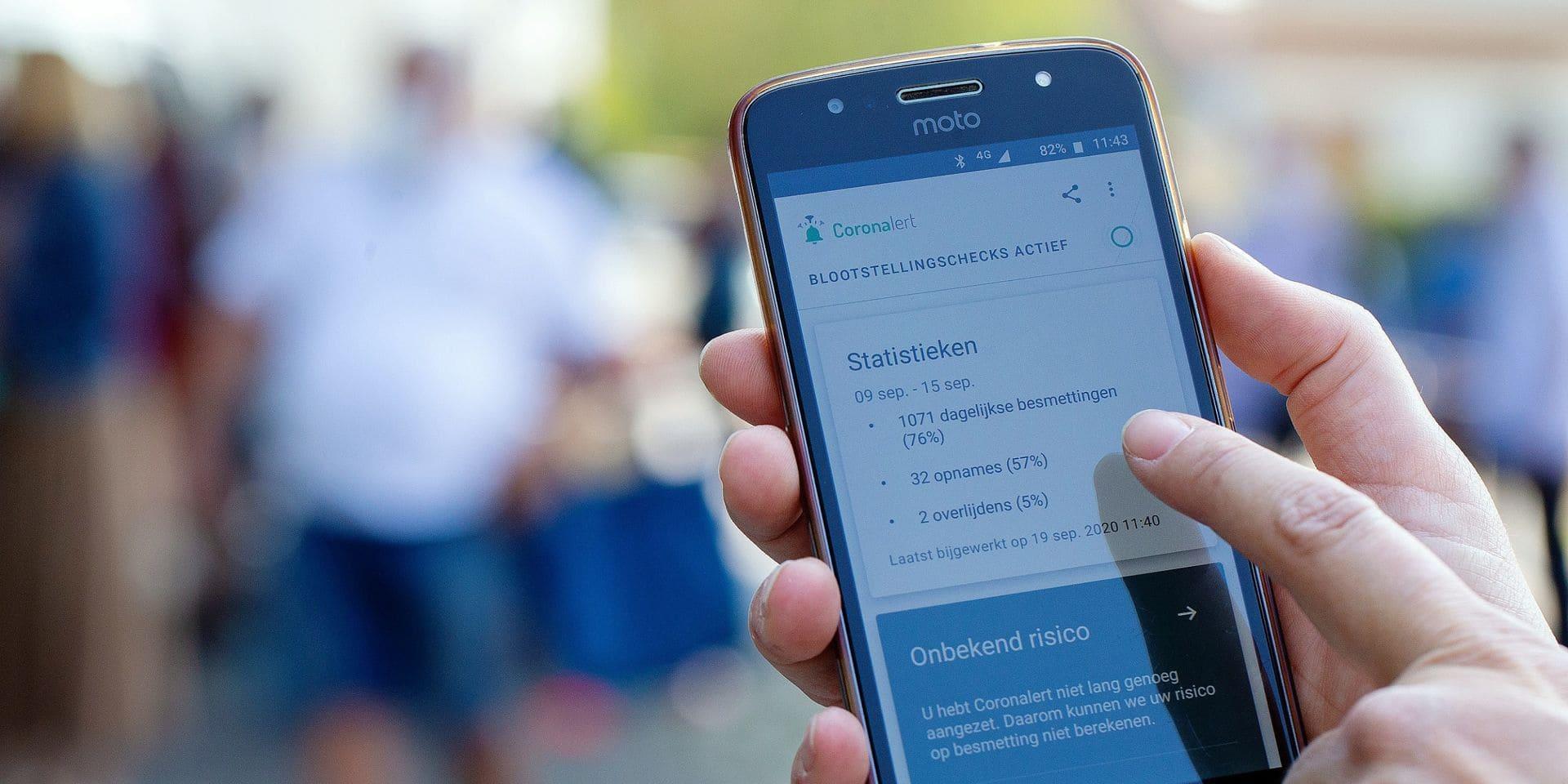 L'application Coronalert a été téléchargée par plus de 2,4 millions de personnes.