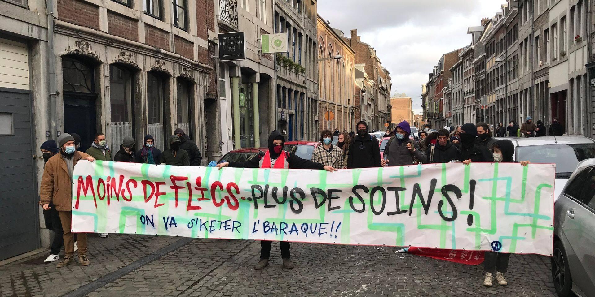 Nouvelle manifestation à Liège contre les mesures liées au coronavirus