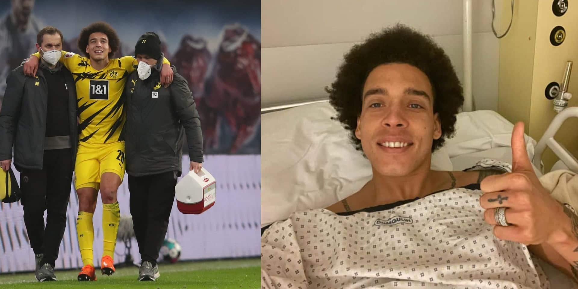 """Axel Witsel donne de ses nouvelles après son opération: """"Je vais revenir plus fort qu'avant"""""""
