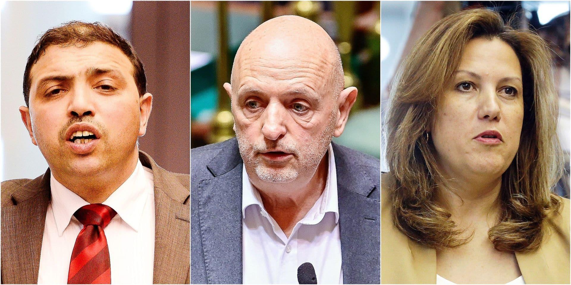 L'ex-député bruxellois Ahmed El Khannouss (G) dénonce l'accumulation des dérapages de Georges Dallemagne. La députée bruxelloise Véronique Lefrancq (D) assure, elle, ne pas demander la tête de son collègue du fédéral.