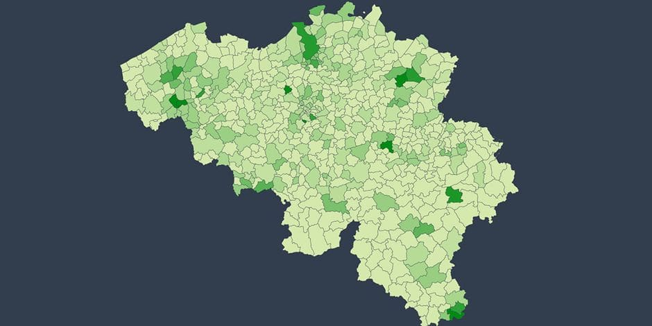 Recrudescence de l'épidémie de coronavirus: voici la carte des communes belges les plus touchées