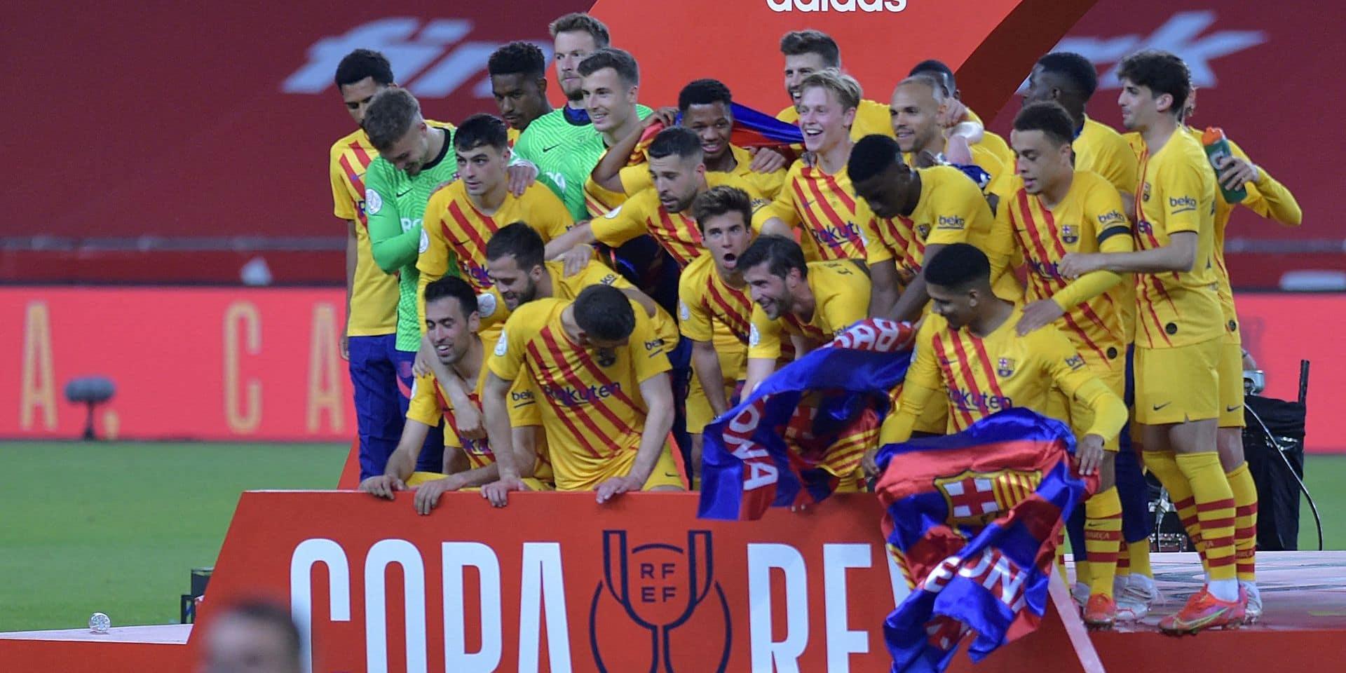 Le FC Barcelone remporte sa 31e Coupe du Roi après son récital 4-0 contre l'Athletic Bilbao