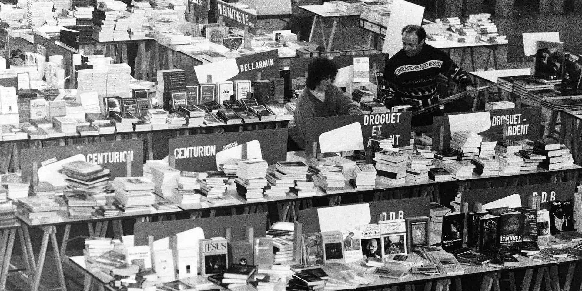 The Book Fair (Foire du Livre) before its opening at the Centre Rogier. (BELGA ARCHIVES)