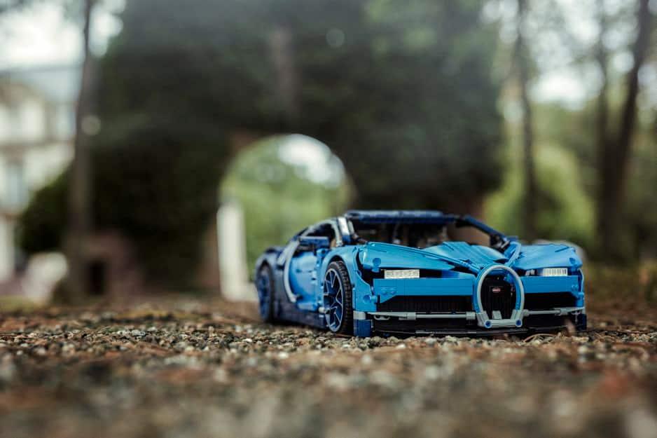Ça c'est du Lego : la Bugatti Chiron à construire, 27€.