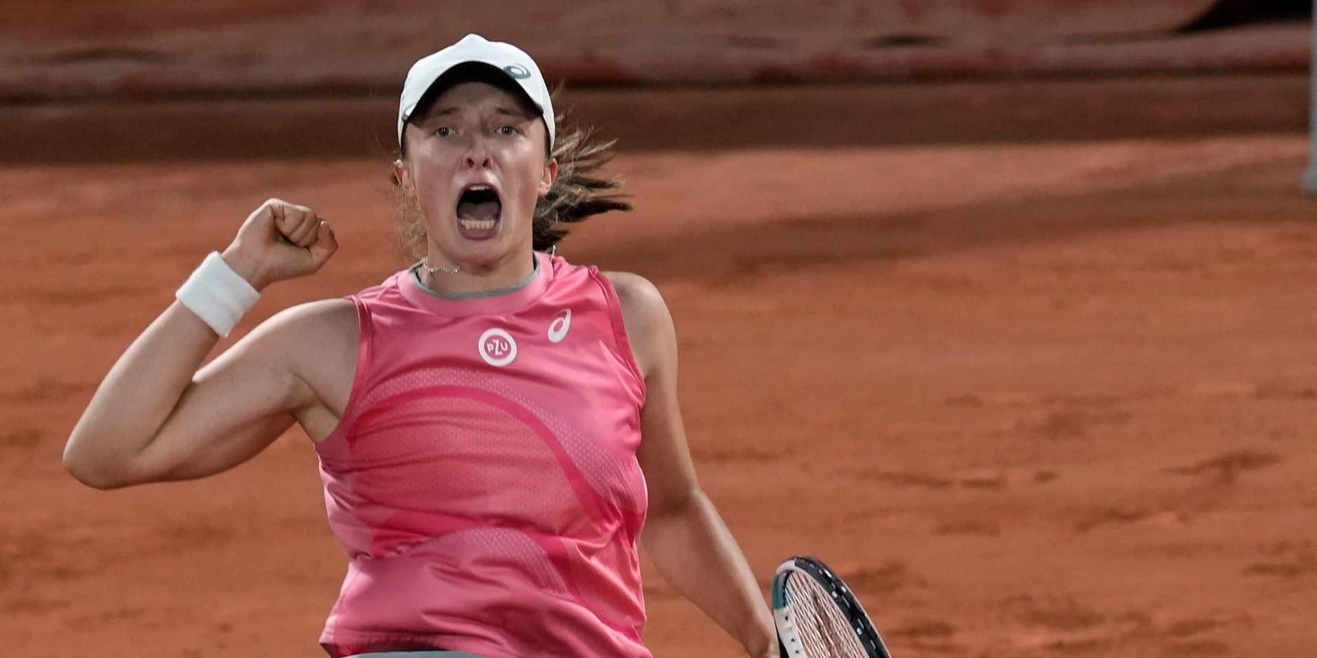 Roland-Garros: Swiatek en quarts de finale sans perdre un set