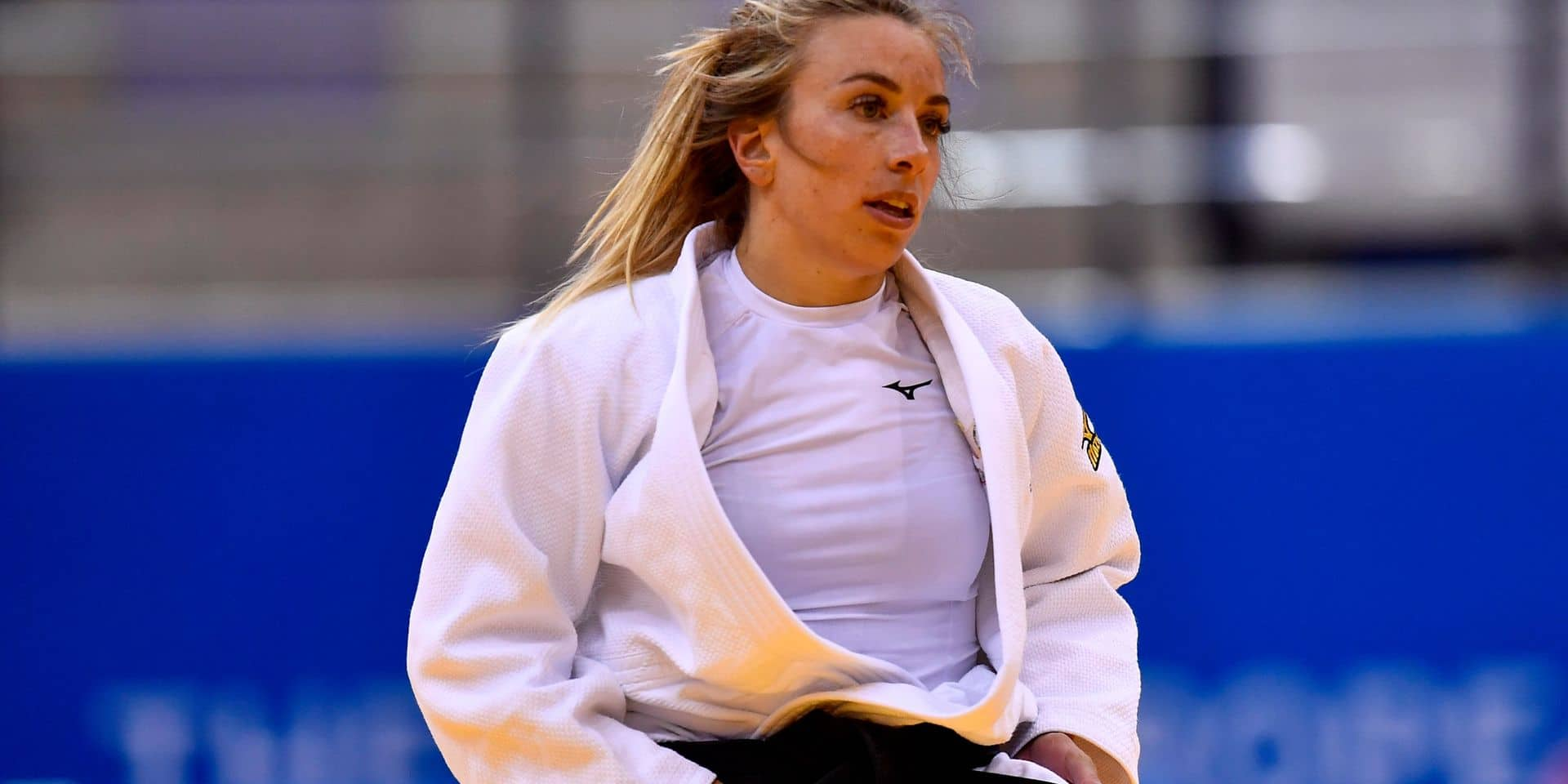 Belgian judoka Charline Van Snick pictured in action during the women's -52kg judo competition at the European Games in Minsk, Belarus, Saturday 22 June 2019. The second edition of the 'European Games' takes place from 21 to 30 June in Minsk, Belarus. Belgium will present 51 athletes from 11 sports. BELGA PHOTO DIRK WAEM