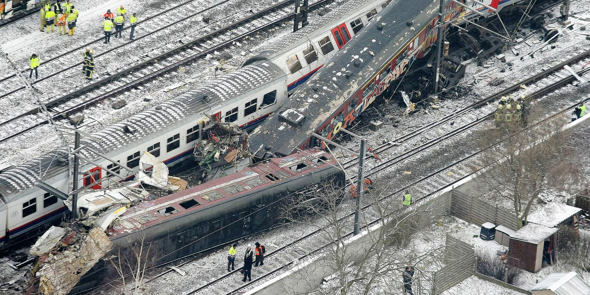 BELGIUM HALLE TRAINS ACCIDENT DISASTER AERIAL VIEW