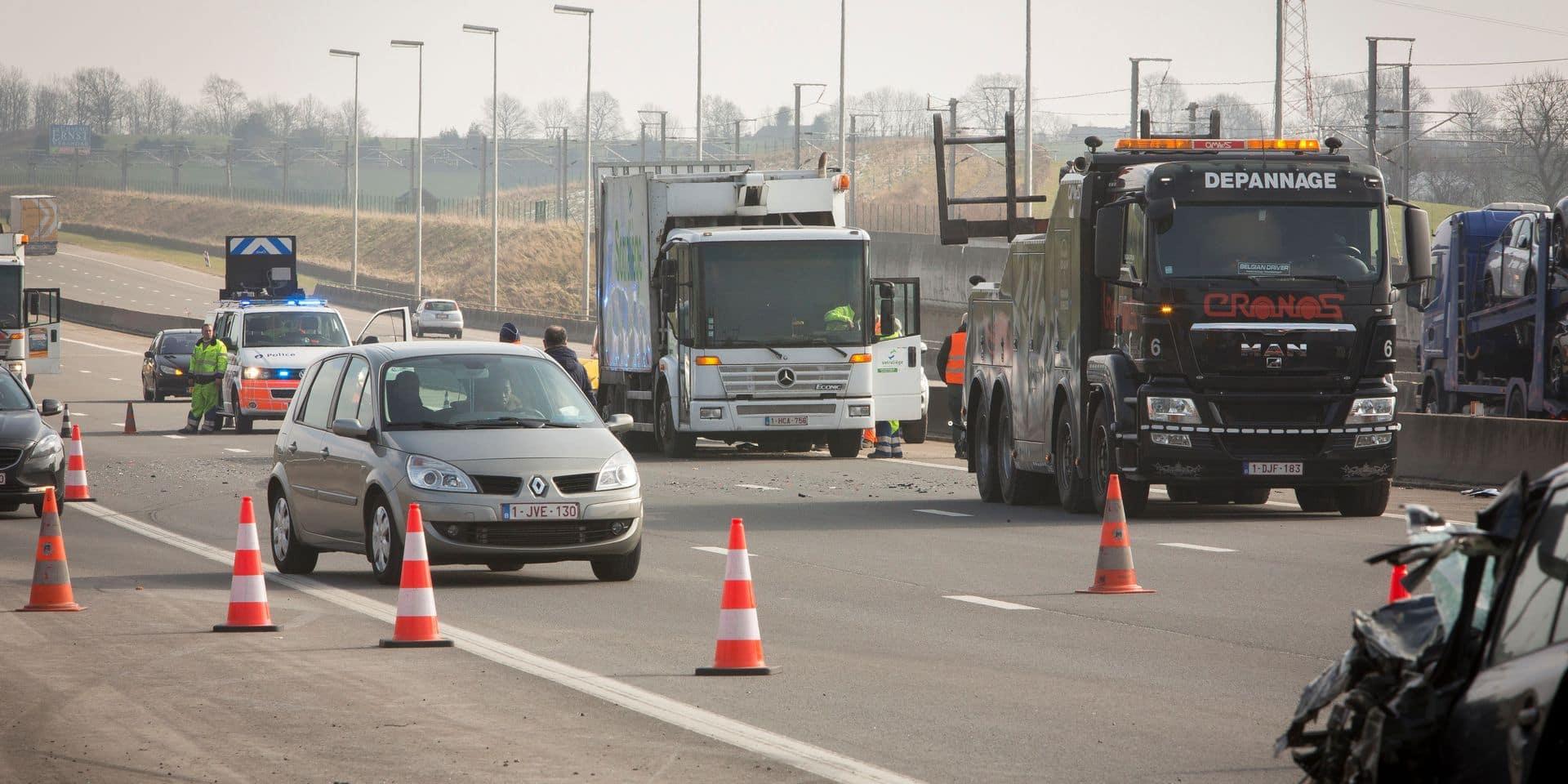 Herve - Accident autoroute E40