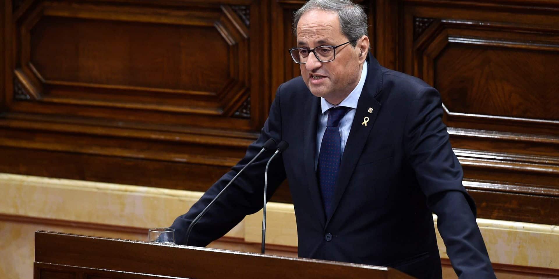 Catalogne: le président de Catalogne Quim Torra déchu de ses fonctions pour désobéissance