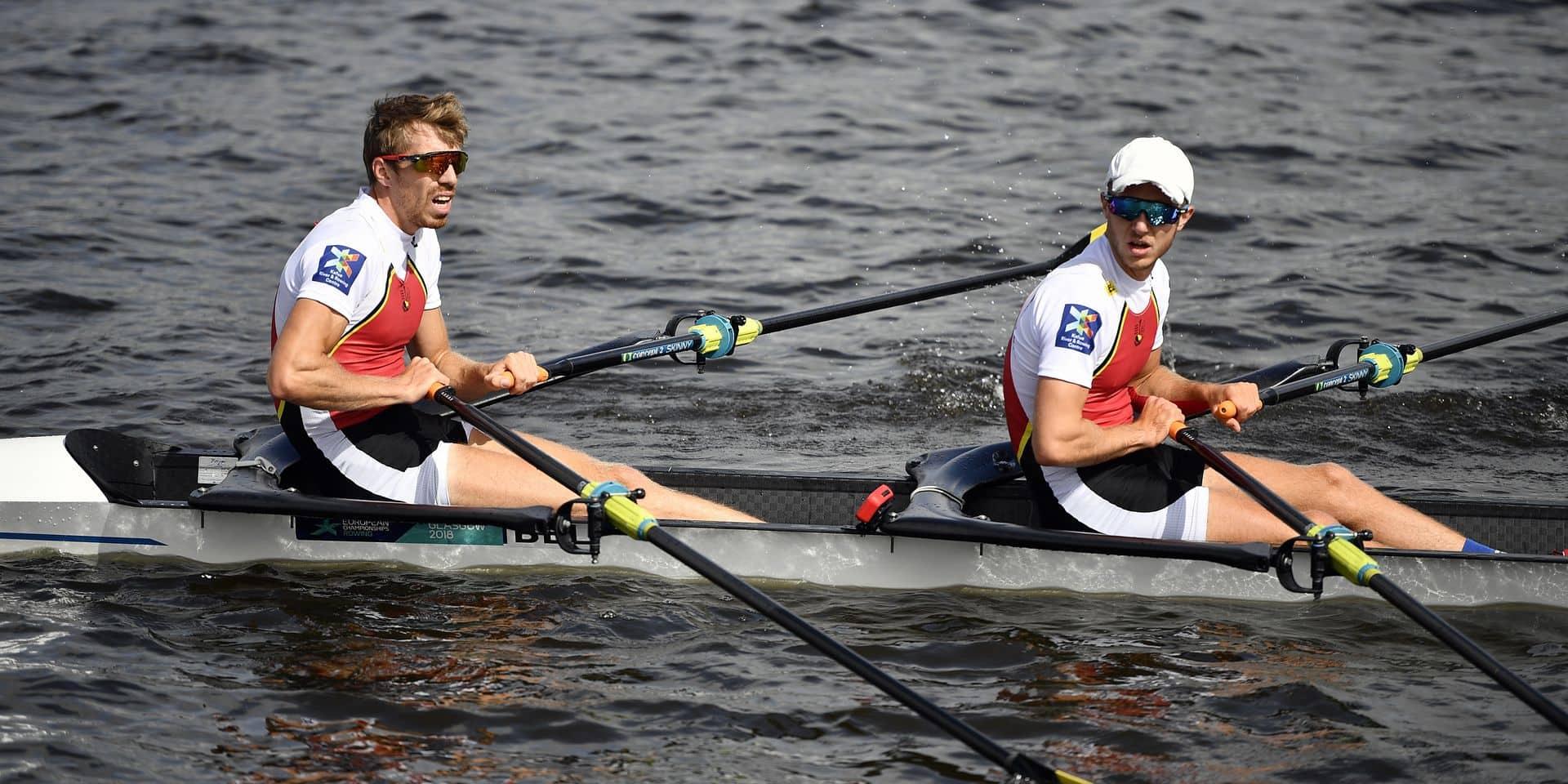Tim Brys et Niels Van Zandweghe médaillés de bronze en deux de couple poids légers