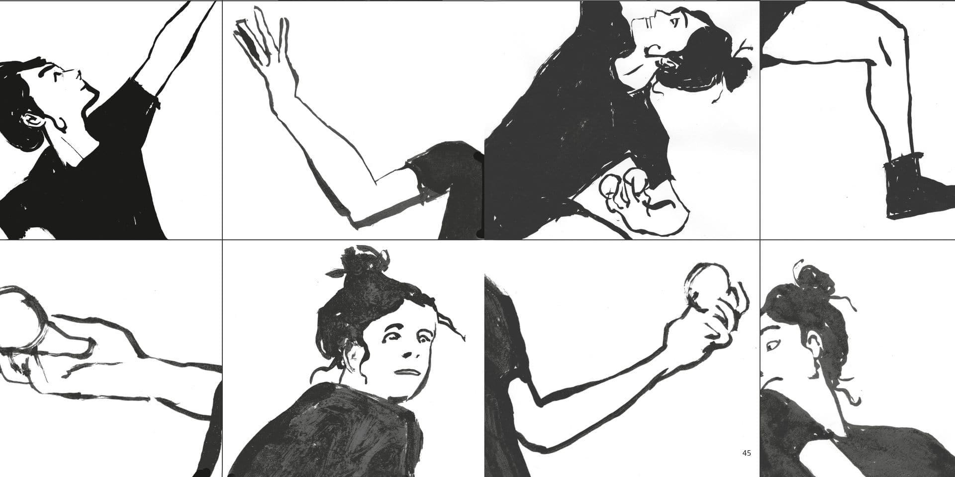 """""""Mousse"""" de Gaëlle Coppée et Denis Michiels (Cie Scratch) vu par l'illustrateur William Henne."""