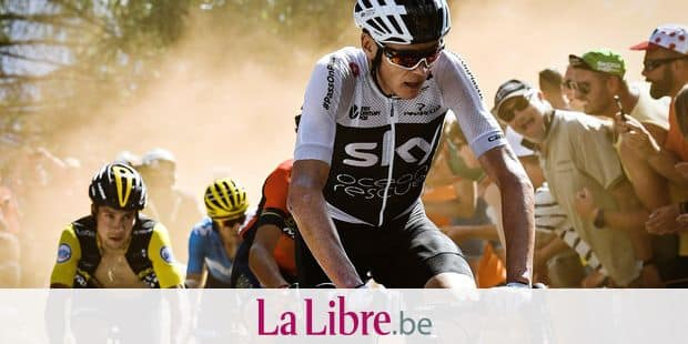 British Chris Froome of Team Sky pictured in action during the twelfth stage in the 105th edition of the Tour de France cycling race, 175,5km from Bourg-Saint-Maurice Les Arcs to Alpe d'Huez, France, Thursday 19 July 2018. This year's Tour de France takes place from July 7th to July 29th. BELGA PHOTO pool jeff Pachoud