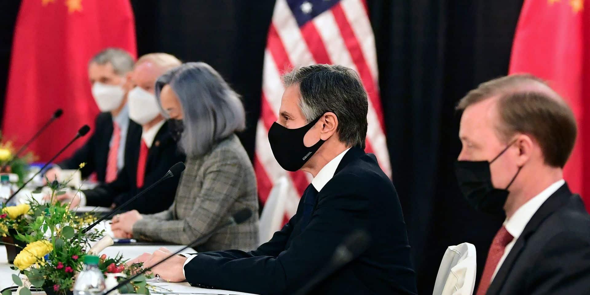 Un parfum de Guerre froide et une litanie de désaccords pour la première confrontation entre l'équipe Biden et la Chine