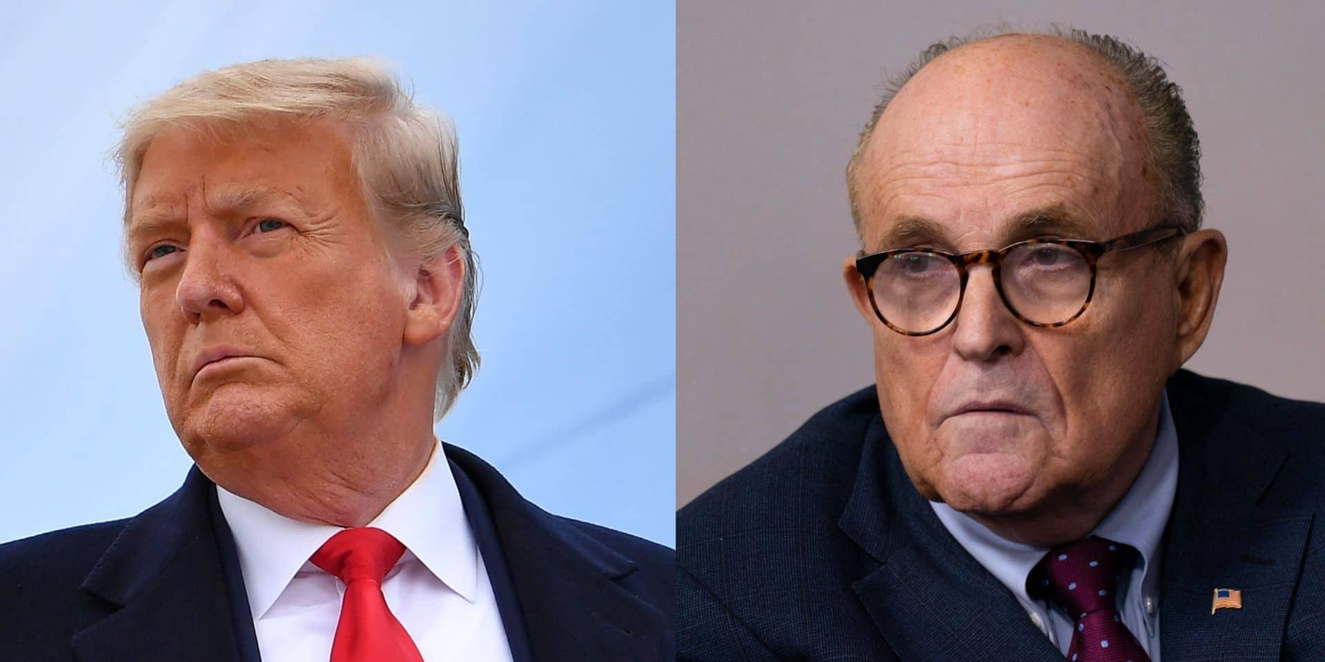 Le torchon brûle entre Donald Trump et son avocat: le président refuserait de payer Giuliani