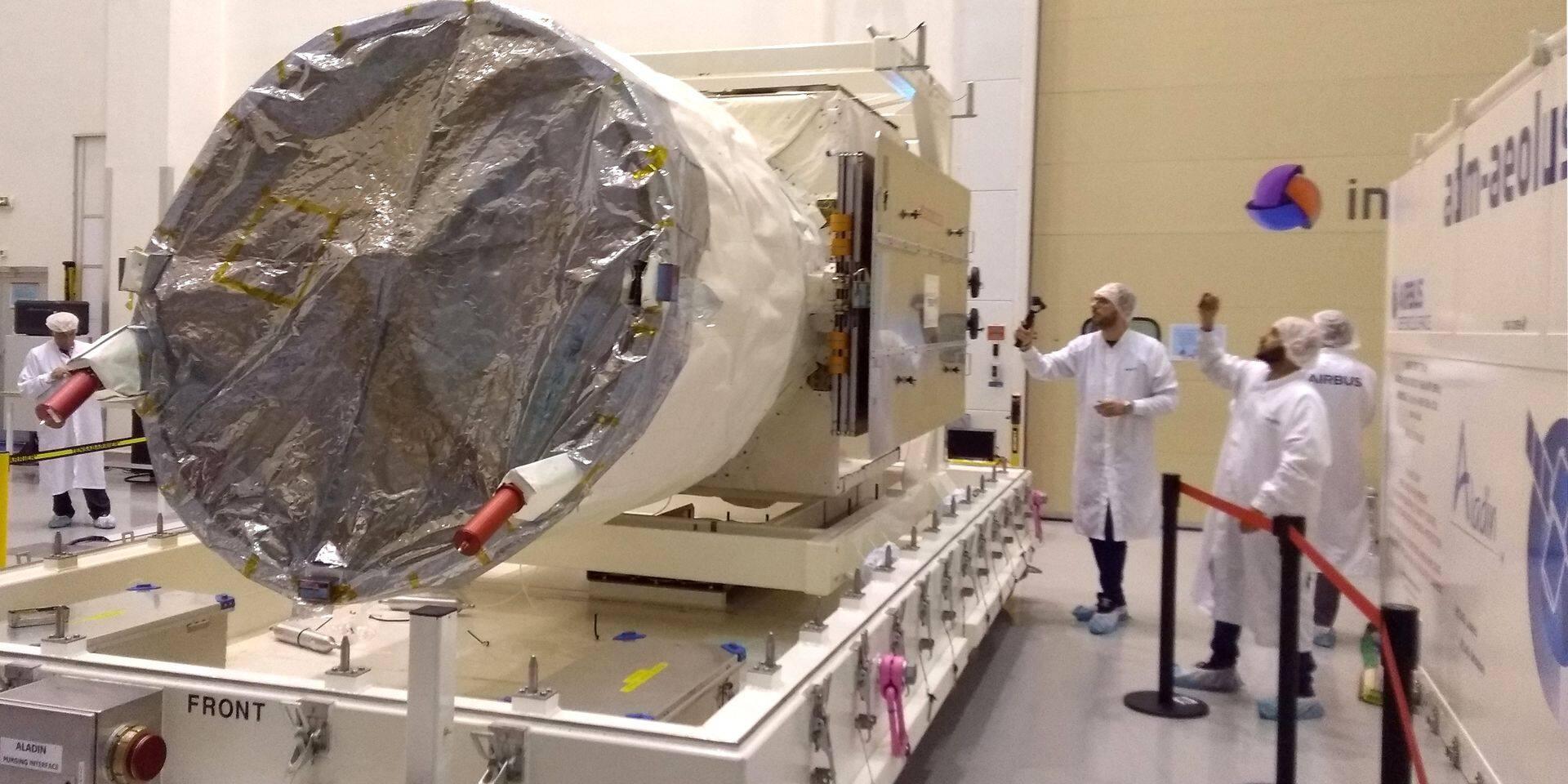 Testé avec succès au centre spatial de Liège, le satellite Aeolus sera lancé le 21 août