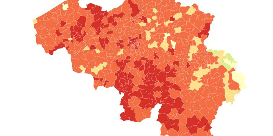 Coronavirus: voici les communes belges où la situation est la plus critique