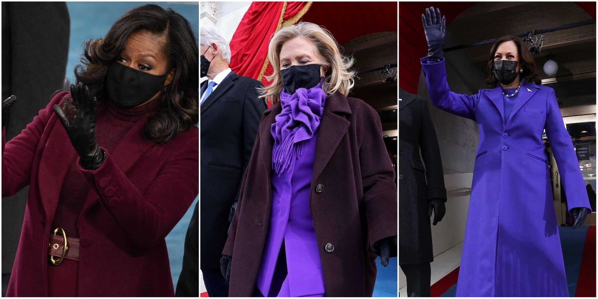 Voici pourquoi Kamala Harris, Michelle Obama et Hillary Clinton portaient du violet lors de l'investiture de Joe Biden