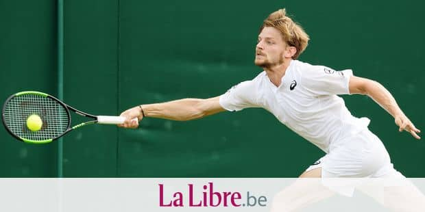 Belgian David Goffin pictured during a tennis match between Belgian David Goffin (ATP23) and Spanish Fernando Verdasco (ATP37) in the men's singles fourth round at the 2019 Wimbledon grand slam tennis tournament at the All England Tennis Club, in south-west London, Britain, Monday 08 July 2019. BELGA PHOTO BENOIT DOPPAGNE