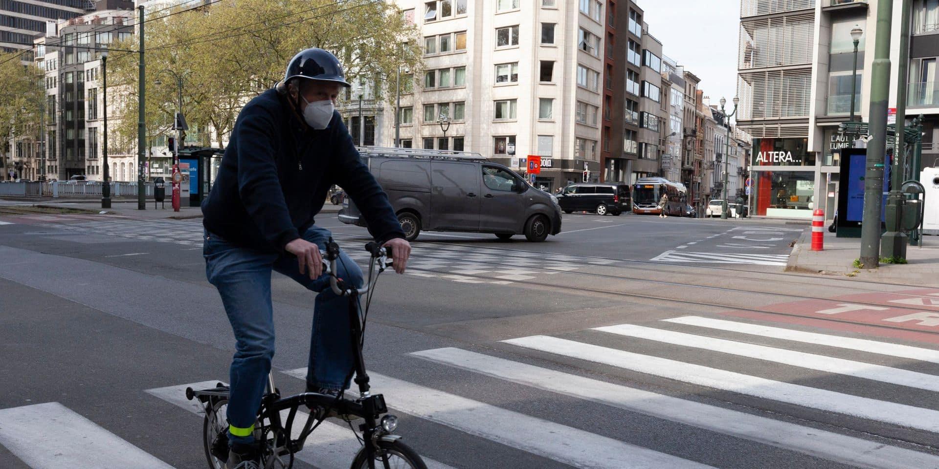 Bruxelles : le port du masque n'est plus obligatoire à vélo