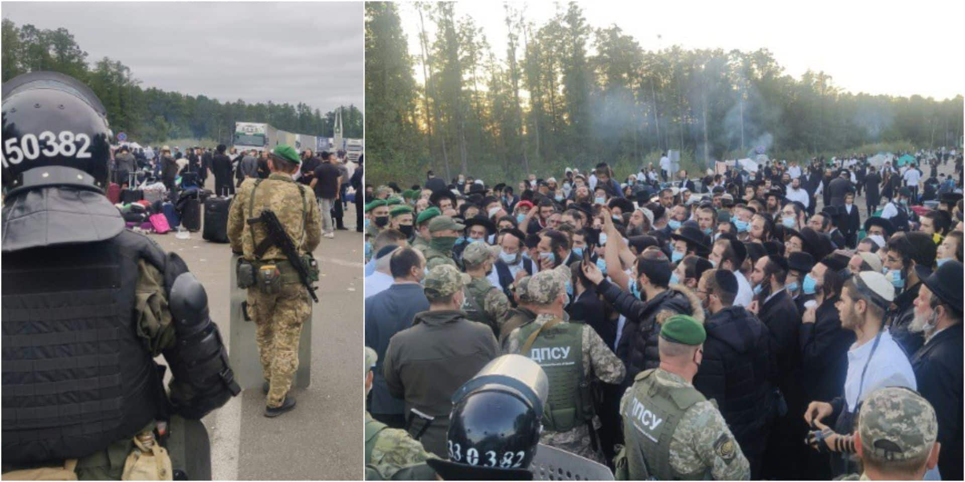 Plus de 1 500 pèlerins juifs orthodoxes bloqués entre la Biélorussie et l'Ukraine