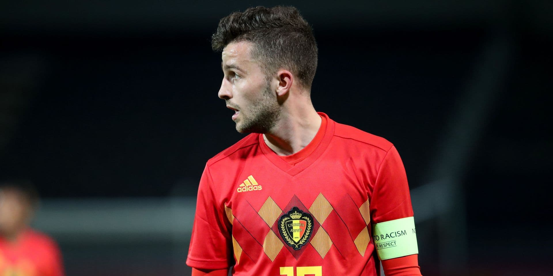Belgium's Siebe Schrijvers pictured during the U21 Red Devils vs Hungary, a qualification match for the 2019 European Championships U21, in Heverlee, Monday 26 March 2018. BELGA PHOTO VIRGINIE LEFOUR