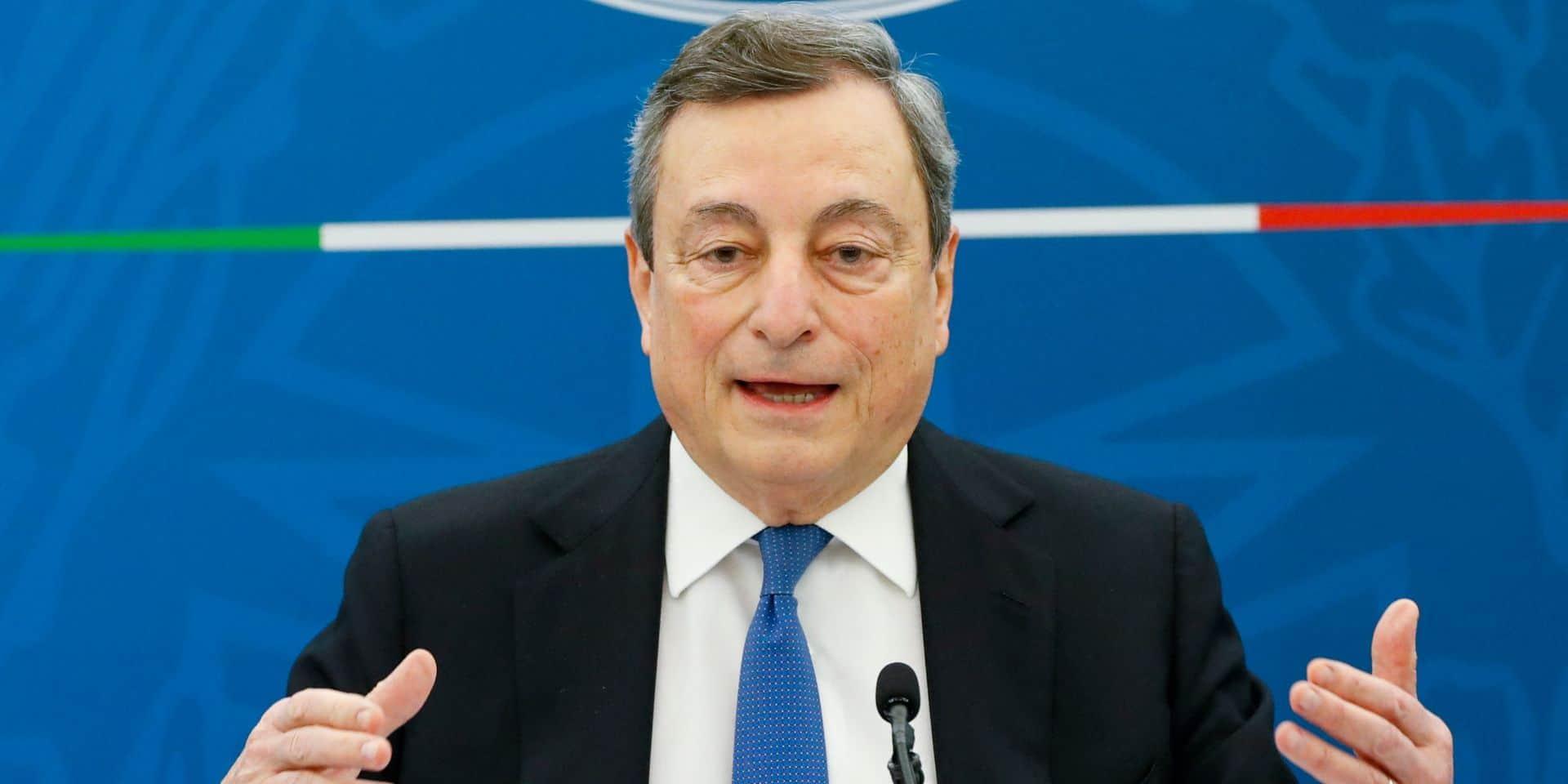 Le Premier ministre de l'Italie, Mario Draghi.