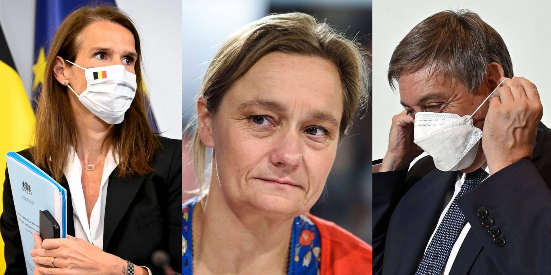 Tensions entre Erika Vlieghe et Jan Jambon: Sophie Wilmès réagit