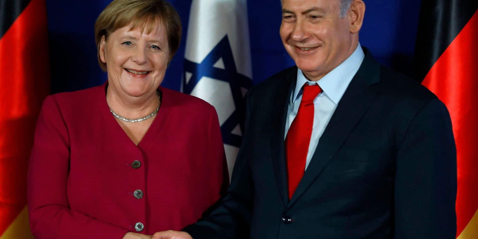 """Dans un appel à Netanyahu, Merkel assure sa """"solidarité"""" avec Israël"""