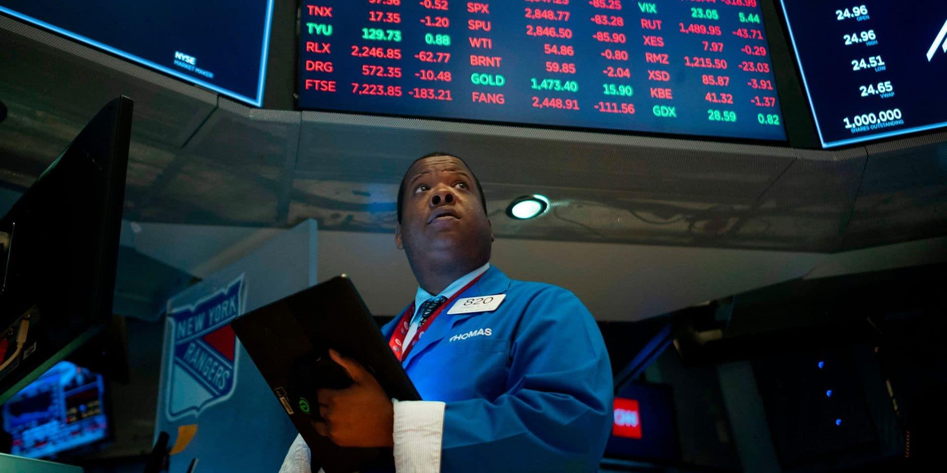 Après avoir enregistré sa pire journée, Wall Street rebondit