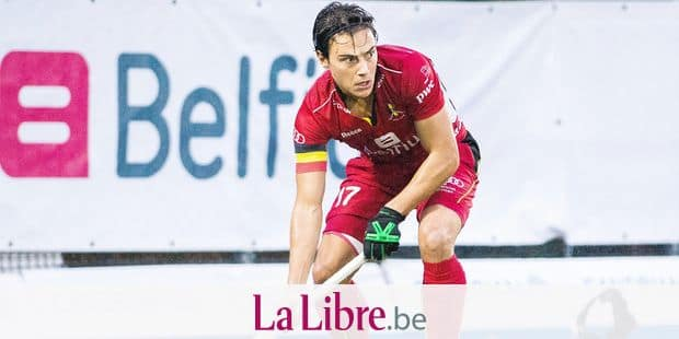 Belgium's Thomas Briels pictured in action during a friendly hockey game between Belgian national hockey team the Red Lions and the Netherlands, Sunday 11 November 2018 in Brussels. BELGA PHOTO LAURIE DIEFFEMBACQ