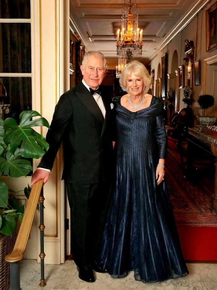 A Clarence House, juste avant la grande soirée.