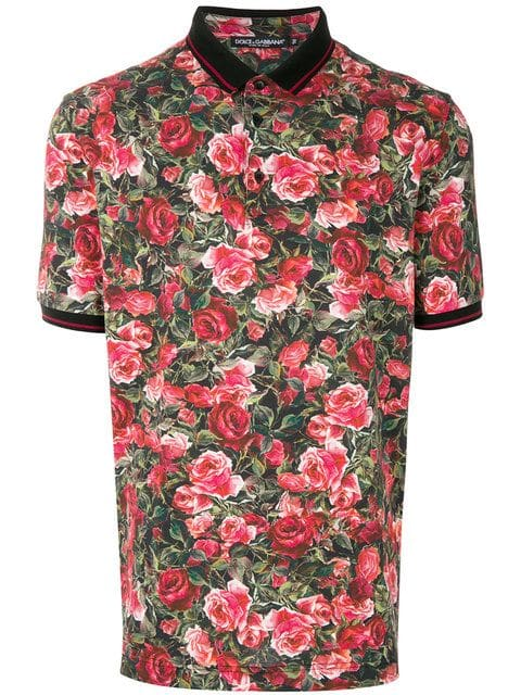 Dolce & Gabbana, Floral Short-sleeve Polo Shirt,       325 euros.