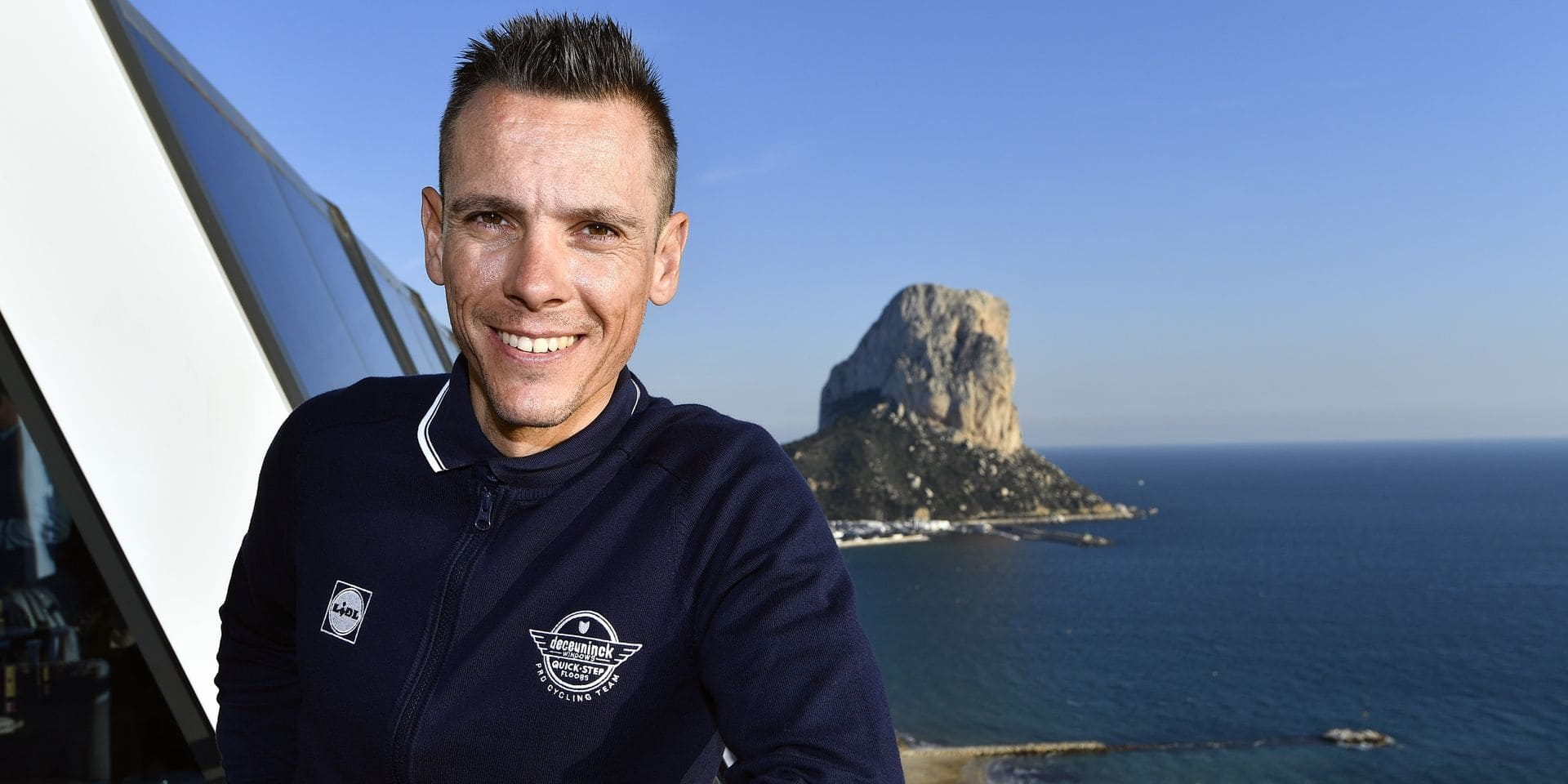 Belgian Philippe Gilbert pictured during the team presentation of Belgian cycling team Deceuninck - Quick-Step, in Calpe, Spain, Tuesday 08 January 2019. BELGA PHOTO ERIC LALMAND