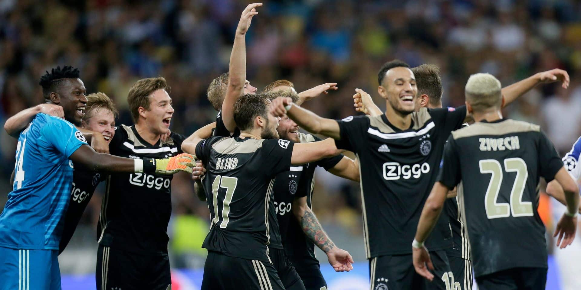 Ligue des Champions: L'Ajax retrouve la phase de poules après quatre saisons, l'AEK et Young Boys qualifiés