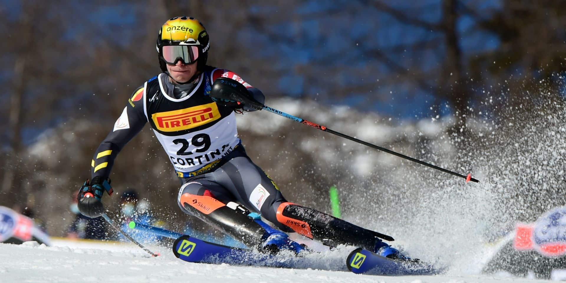 """Armand Marchant 10e du slalom aux championnats du monde : """"Un super résultat"""""""