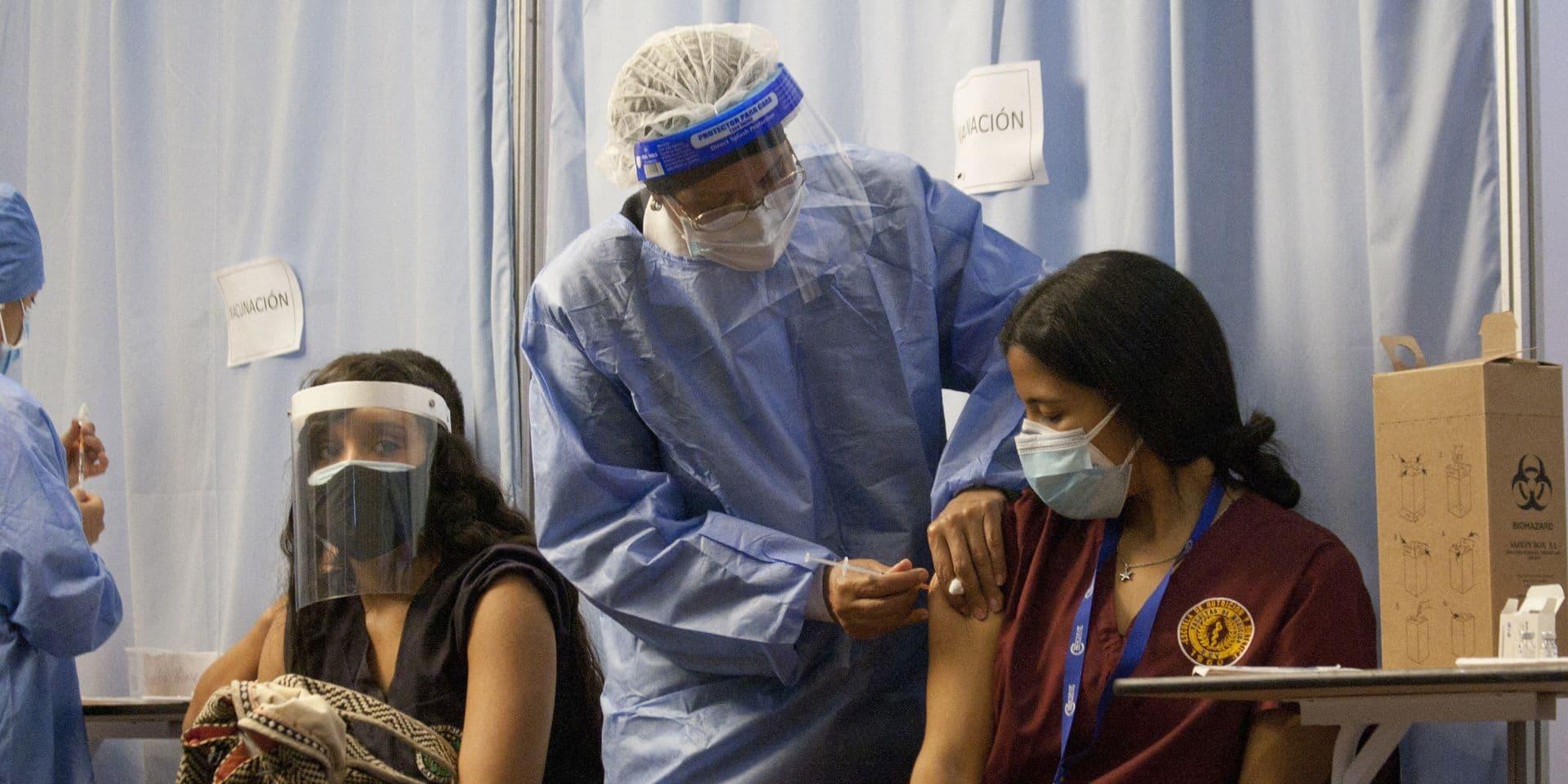 Centre de vaccination à Caracas, au Venezuela.
