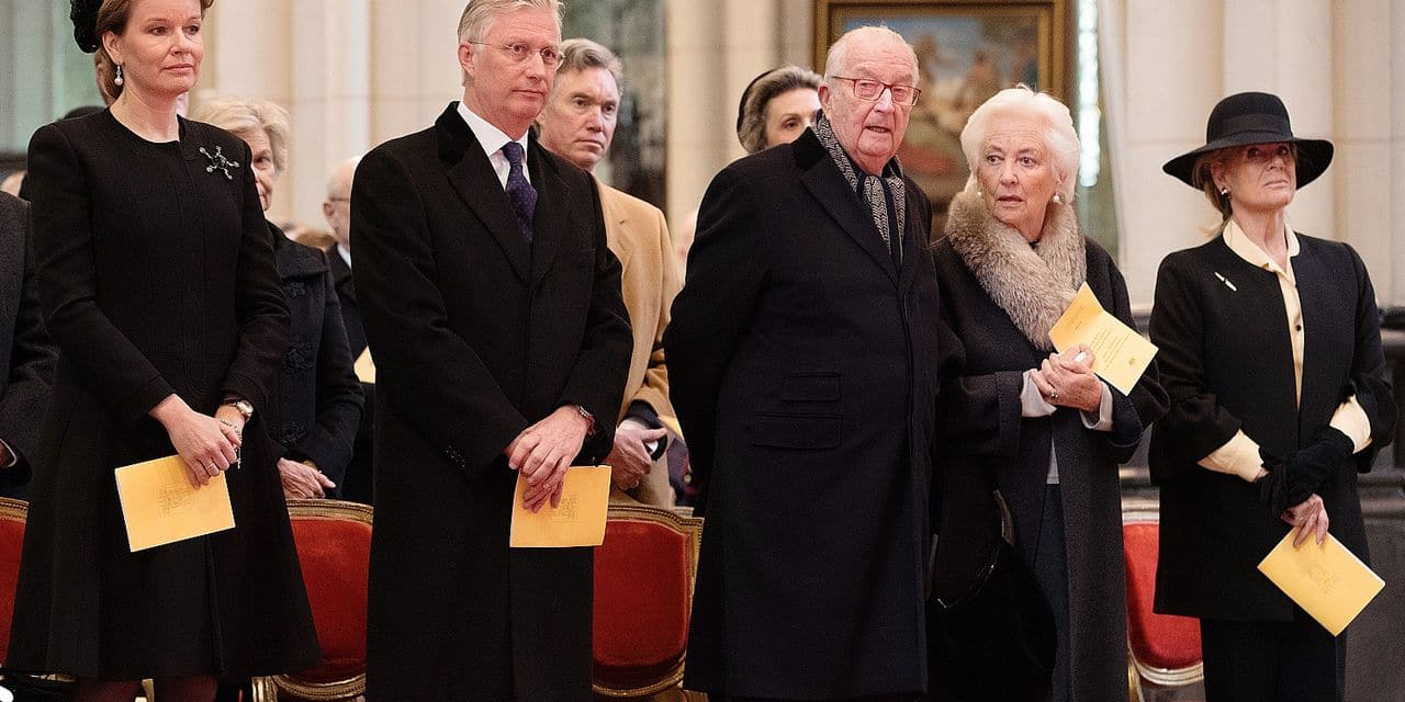 Queen Mathilde of Belgium, King Philippe - Filip of Belgium, King Albert II of Belgium and Queen Paola of Belgium pictured during a special Mass to commemorate the deceased members of the Belgian Royal Family, at the Onze-Lieve-Vrouwkerk - Eglise Notre-Dame, in Laeken-Laken, Brussels, Tuesday 20 February 2018. BELGA PHOTO BENOIT DOPPAGNE