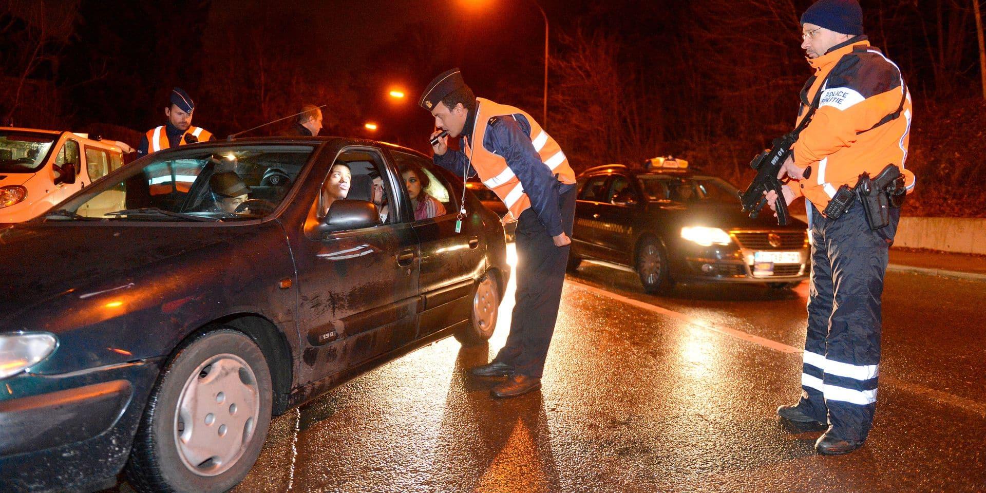 Controle de police bruxelles operation coup de poing police douane alcool alcotest