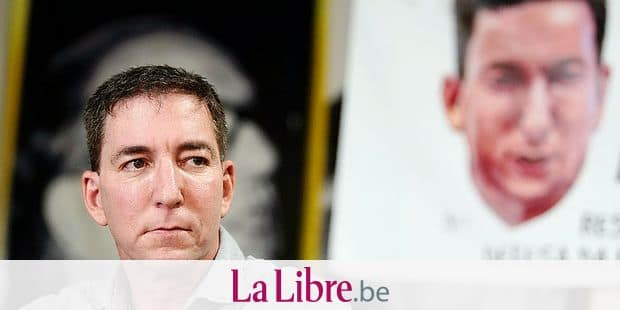 """Journalist Glenn Greenwald listens to a question during a press conference before the start of a protest in his support in front of the headquarters of the Brazilian Press Association, known as ABI, in the city of Rio de Janeiro, Brazil, Tuesday, July 30 , 2019. Brazil's president has raised the possibility of jail for journalist Glenn Greenwald a few days after members of his party said the American's Brazil-based internet publication was """"aligned with criminal hackers"""" for reporting on hacked phone calls. (AP Photo/Ricardo Borges)"""