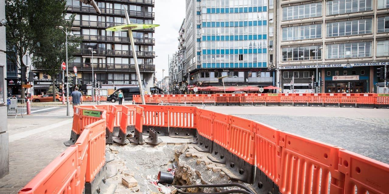 """Liège : impacté par la """"crise"""", le chantier du tram a pris du retard"""