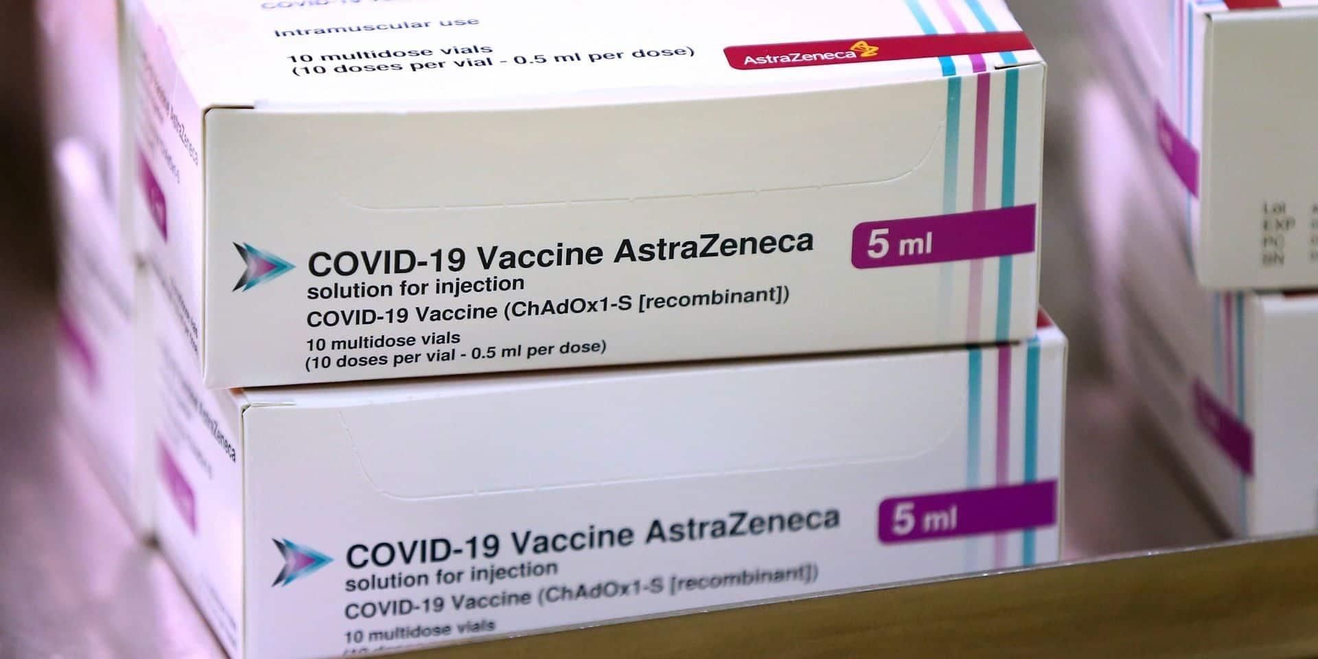 Inquiétudes au sujet du vaccin AstraZeneca: la Belgique ne change pas de cap