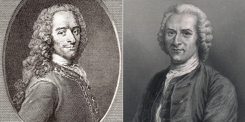 Entre Voltaire et Rousseau, la haine