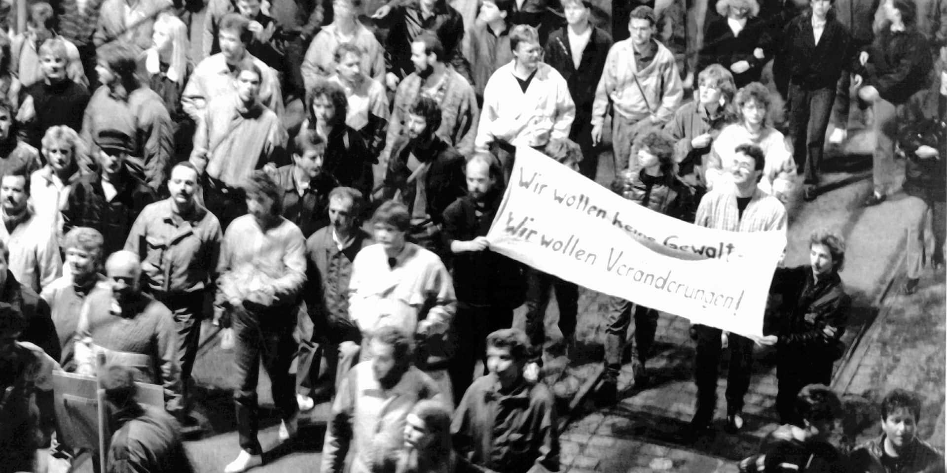 """Il y a trente ans, Leipzig faisait vaciller la RDA: """"La chute du mur fut l'un des rares moments de..."""