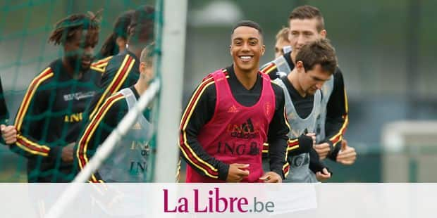 Belgium's Youri Tielemans (C) pictured during a training session of Belgian national team the Red Devils in Tubize, Wednesday 04 September 2019. The team is preparing for two Euro 2020 qualifiers, against San Marino on Friday and Scotland next Tuesday. BELGA PHOTO BRUNO FAHY