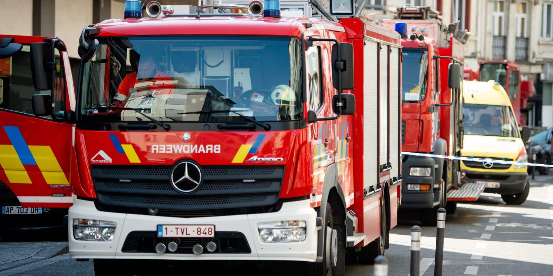 Incendie en sous-sol dans un immeuble à appartements de Molenbeek-saint-Jean, le plan d'urgence communal enclenché