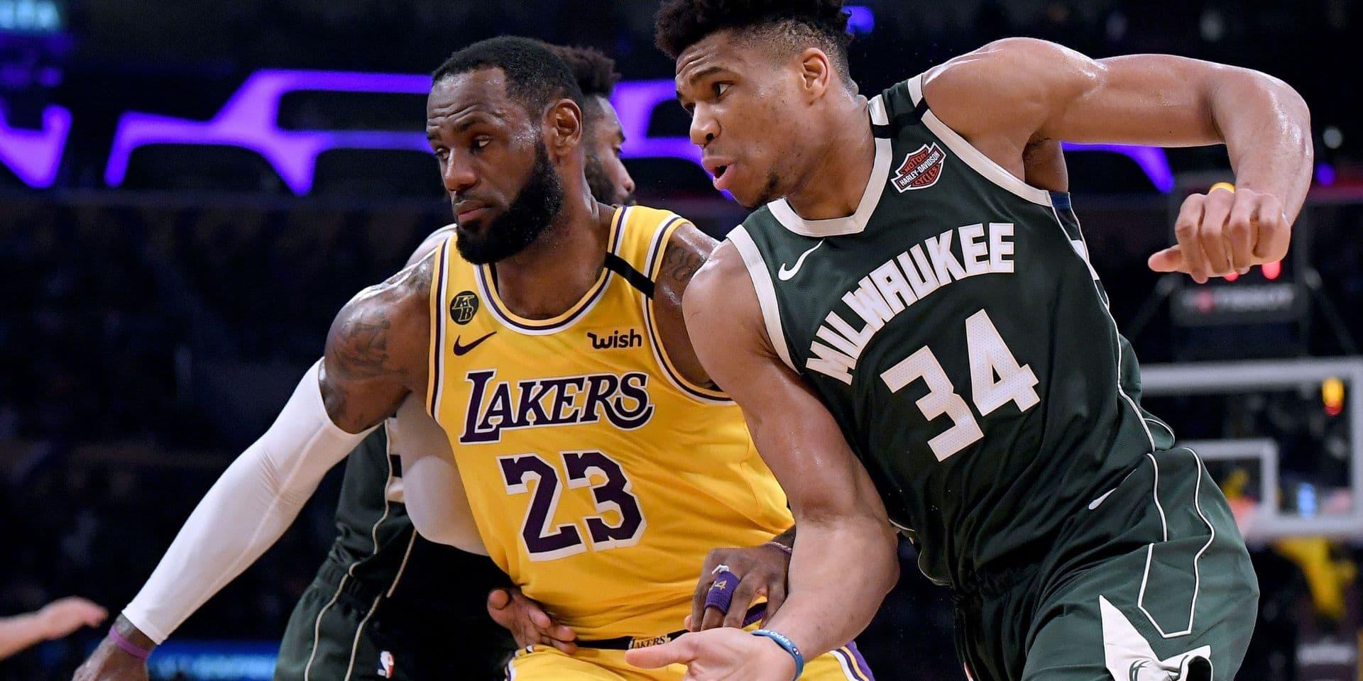 NBA: les Lakers gagnent le choc contre Milwaukee et retrouvent les playoffs