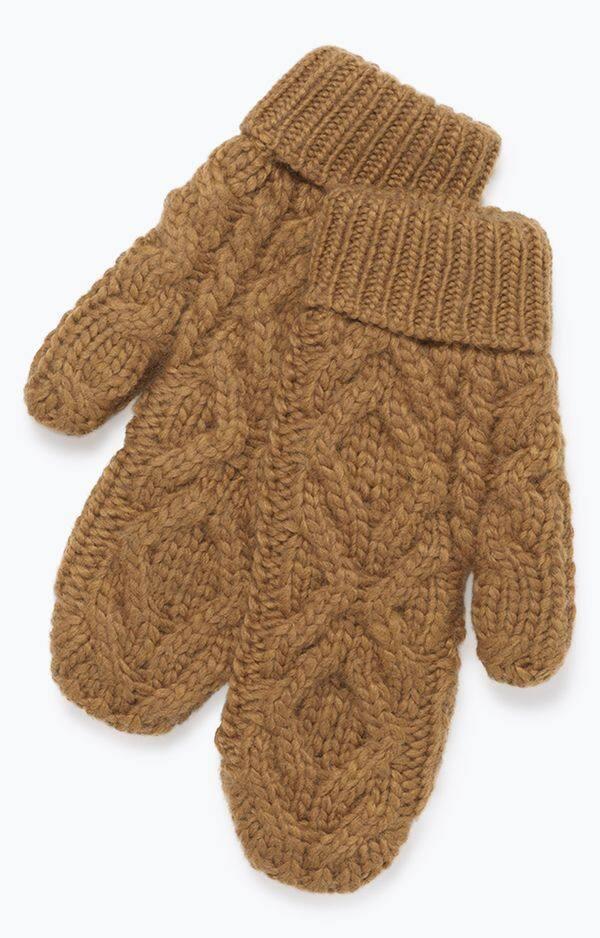 Moufles en tricot torsadé American Vintage, 50€